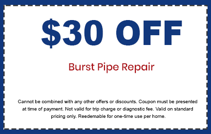 Discounts on Burst Pipe Repair