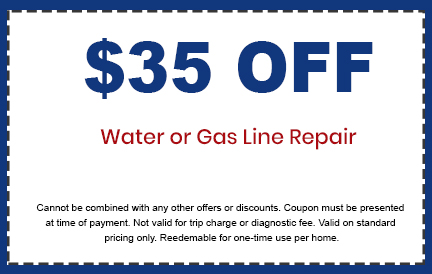 Discounts on Water or Gas Line Repair